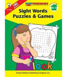 Sight Words Puzzles & Games Workbook - Carson Dellosa Publishing Education Supplies #CDWishList