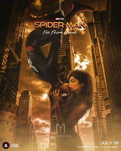 Hah, the good old upside down Spider-Kiss ; Marvel Dc, Marvel Funny, Marvel Memes, Spiderman Movie, Amazing Spiderman, Spiderman Suits, Tom Holland Zendaya, Tom Holand, Marvel Couples