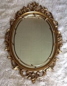 Large+Syroco+Vintage+Mirror+by+LadyBugzGemz+on+Etsy,+$70.00