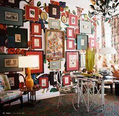 Gorgeous salon wall.