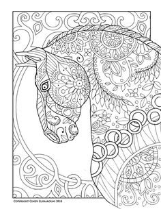 228 Best Horse Lovers Coloring Books images in 2019   Coloring books ...