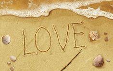 Asadal Design : Fantasy & Creative Design Wallpapers - Creative Design - Love Letters on the Beach 1920*120012