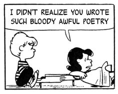 This charming charlie  // Mashups of Smiths lyrics and Peanuts comics = lovely lovely things.