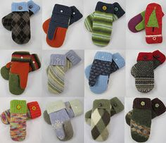 Fun and so cute mittens from WintersWoods!