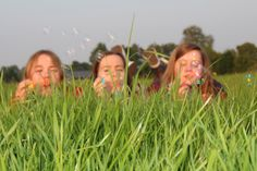 #friends #bubbles #grass