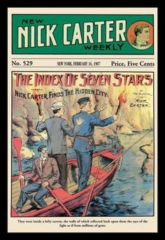 Nick Carter: The Index of Seven Stars 12x18 Giclee on canvas