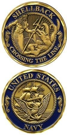 US NAVY SHELLBACK MILITARY CHALLENGE COIN