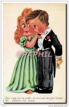 Fantaisie - Enfant - Illustration - Children In Formel Clothes - CPA