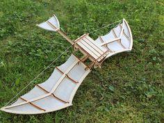 Leonardo da Vinci inspired glider by ripper - Thingiverse