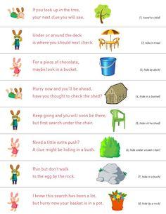 Best 25 Easter Egg Hunt Clues Ideas On Pinterest Easter Hunt Easter Egg Hunt Printable Clues