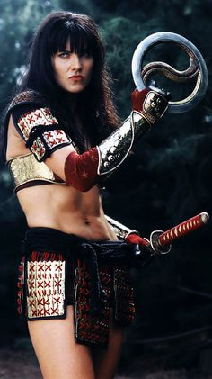 Xena..best of both worlds..can we say warrior princess..gorgeous and tough..who wouldn't want to be her
