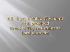 Great Is Thy Faithfulness - Chris Rice