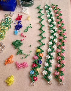 Image result for Daisy Chain Seed Bead Pattern