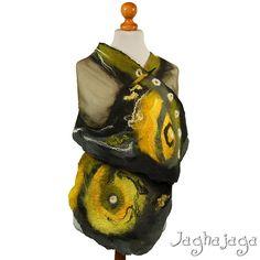 Evening shawl wrap silk scarf handmade shawl nuno by Jaghajaga