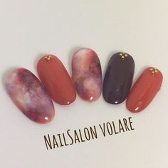 Winter / Halloween / Date / Hand / One Color-Nail von … – Móng tay Diy Nails, Cute Nails, Pretty Nails, Gel Nail Art, Manicure And Pedicure, Nail Polish, One Color Nails, Nail Colors, Fruit Nail Art