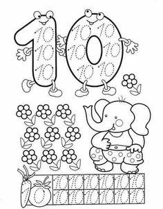 Preschool and Homeschool Numbers Preschool, Math Numbers, Writing Numbers, Preschool Activities, Math For Kids, Lessons For Kids, Math Lessons, Kindergarten Math Worksheets, In Kindergarten