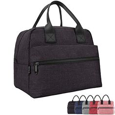 EasyFun Lunch Box for Men & Women Insulated Lunch Bags Heat Insulation and Leak-proof Lining Adult Cooler Tote Bag (Black) Reusable Lunch Bags, Insulated Lunch Tote, Lunch Boxes For Men, Adult Lunch Bag, Lunch Cooler, Best Lunch Bags, Bagged Milk, Picnic Bag, Lunch Containers