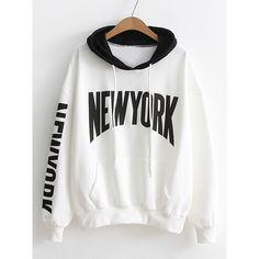 Drop Shoulder Drawstring Hooded Sweatshirt ( 21) ❤ liked on Polyvore  featuring tops, hoodies 5387d89021