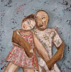 """Couple"" 2015 - Mixtmedia on canvass 50x50 (acrylic paper collage pastels charcoal pigments...) #mixmedia #art #painting #contemporaryart #contemporary #artwork #artgallery #artmarket #artforsale #arttobuy #fineart #buyart #artlovers #curators #artfou #modernart #artparis #artgermany #artberlin #sanfranciscoart #artdealer #artbasel"