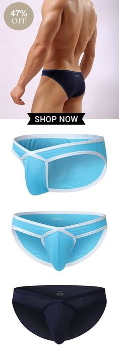 Enthusiastic Fashion Sexy Men Underwear Briefs Designed Low Waist Men Underwear Briefs Brand Mens Briefs Cotton Gay Penis Pouch Very Good Wj Suitable For Men And Women Of All Ages In All Seasons Men's Underwear Briefs