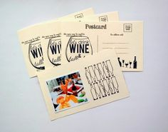 Let's Drink Wine Postcards by Dana Tatar - Canvas Corp