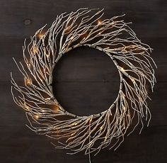 Winter Wonderland Birch Wreath- Bring extra shimmer to the season with holiday wreaths dotted with starry warm-white lights. Each wreath has both an on/off switch and built-in 24-hour timer. | Restoration Hardware