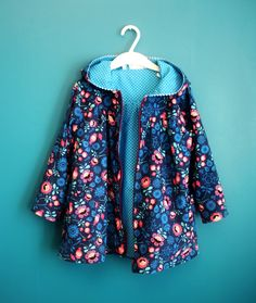 Handmade jacket for a little girl. Hippu.