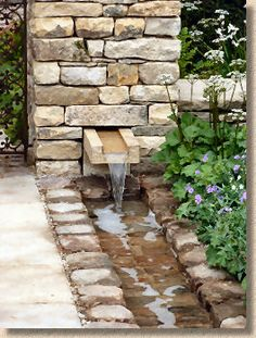 Feature wall and rill