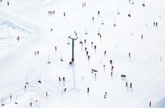 Pinterest: @Mer_Elise / Skiers and Chair Lift / Gray Malin