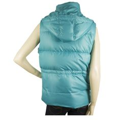 Missoni Sky Blue Down Feather Vest Sleeveless Jacket Gillet Body Warrmer sz 44
