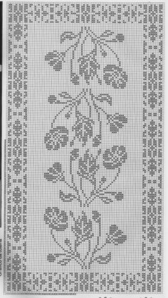 @nika Crochet Chart, Crochet Stitches, Embroidery Stitches, Crochet Tablecloth Pattern, Crochet Doilies, Knitting Patterns, Crochet Patterns, Fillet Crochet, Crochet Projects