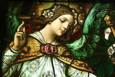 Detalhe do vitral na catedral católica de Los Angeles.