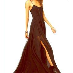 NWOT Maxi Dress Black maxi dress with slit. Never worn Dresses Maxi