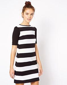 Image 1 ofRiver Island Chunky Stripe Shift Dress, asos, $33.58