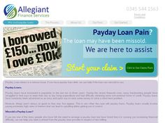 Allegiant Finance Services Limited are payday loan claims specialists operating on a no win no fee basis. Apply online now and reclaim your payday loan charges