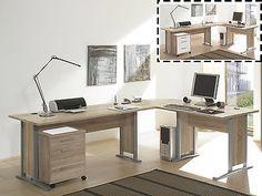 """Schreibtisch-Kombination Winkelschreibtisch Bürotisch Arbeitstisch """"Clermont I"""""""