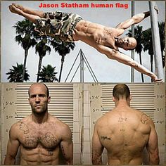 Calisthenic Workout Routines: Introduction to Calisthenics Jason Statham - Cool human flag! Fitness Goals, Fitness Tips, Fitness Motivation, Health Fitness, Gym Fitness, Daily Motivation, Crossfit, Human Flag, Ju Jitsu