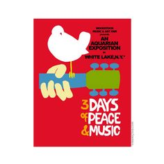 Woodstock poster reprint. Great stuff for the free-spirit in your life.