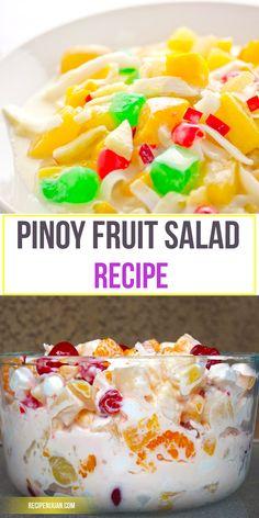 Fruit Salad (Filipino Style)
