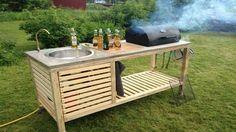 DIY Perfect Portable Outdoor Kitchen #diy #home