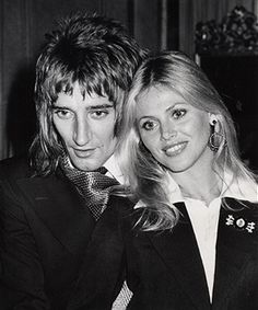Rod Stewart and Britt Ekland at the St. Regis Hotel in New York City - July 31, 1975