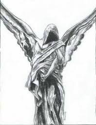 Znalezione obrazy dla zapytania anioł szkic tatuaż