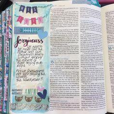 "1 Likes, 1 Comments - Rachel (@funkibubl) on Instagram: ""Forgiveness Luke 15:11 #illustratedfaith #biblejournalingcommunity #biblejournaling"""