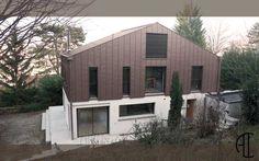 Architecte intérieur Lyon - SURELEVATION D'UNE ANCIENNE MAISON CASTOR A LYON - CONSTRUCTION BOIS & VETURE EN ZINC