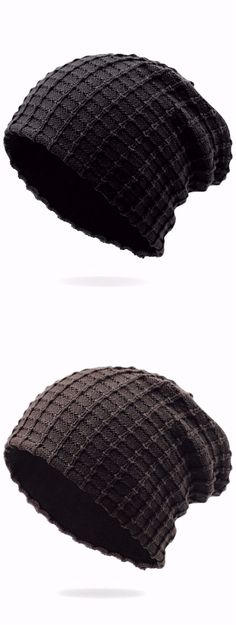 Outdoor Plaid Velvet Slouchy Beanie