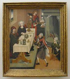 Colmar, Museum Unterlinden, Legende vom Hähnchenwunder durch St. Jakob. um 1470
