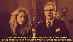 """Alan Rickman as John Gissing with Sonya Walger as Sister Mary in """"The Search for John Gissing"""""""