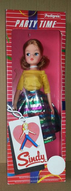LOVELY RARE 1980'S PARTY TIME SINDY BOXED BY PEDIGREE 72+4.5