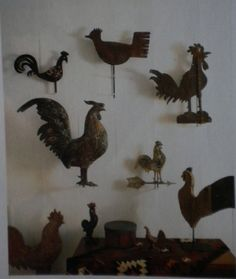 Rooster Weathervanes,love this! Lightning Rod, Rooster Kitchen, Rooster Decor, Weather Vanes, Chicken Art, Chickens And Roosters, Galo, Egg Art, Raising Chickens