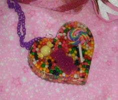 Candyland Inspired Large Rainbow Heart by GlamCandyBoutique, $22.00